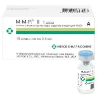 М-М-Р II® (Вакцина против кори, паротита и краснухи, живая)